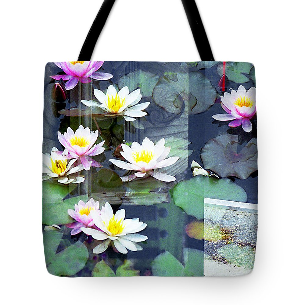 New York City Tote Bag featuring the photograph Lily Pads by Rosie McCobb