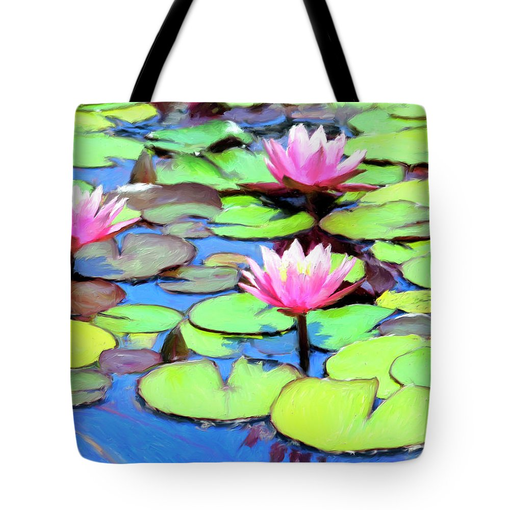 Lily Pond Tote Bag For Sale By Dominic Piperata