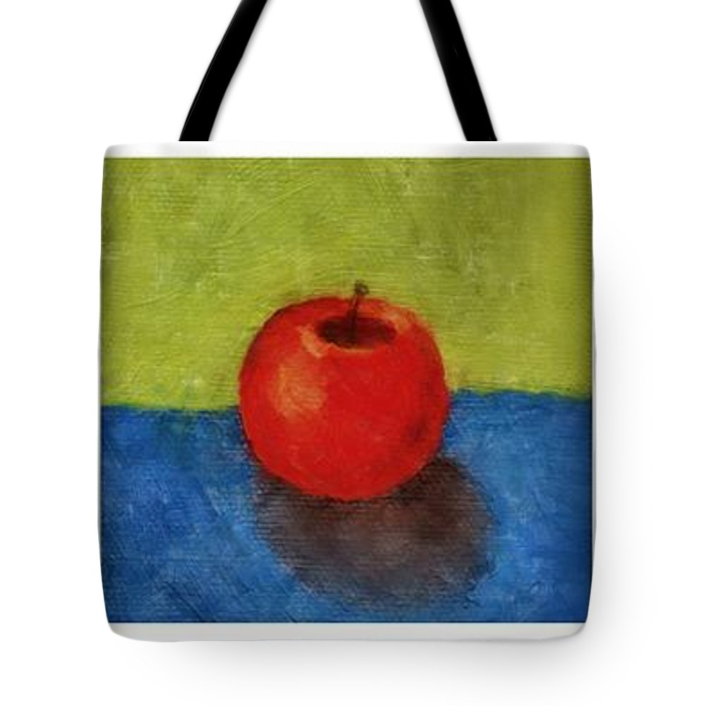 Lime Tote Bag featuring the painting Lime Apple Lemon by Michelle Calkins