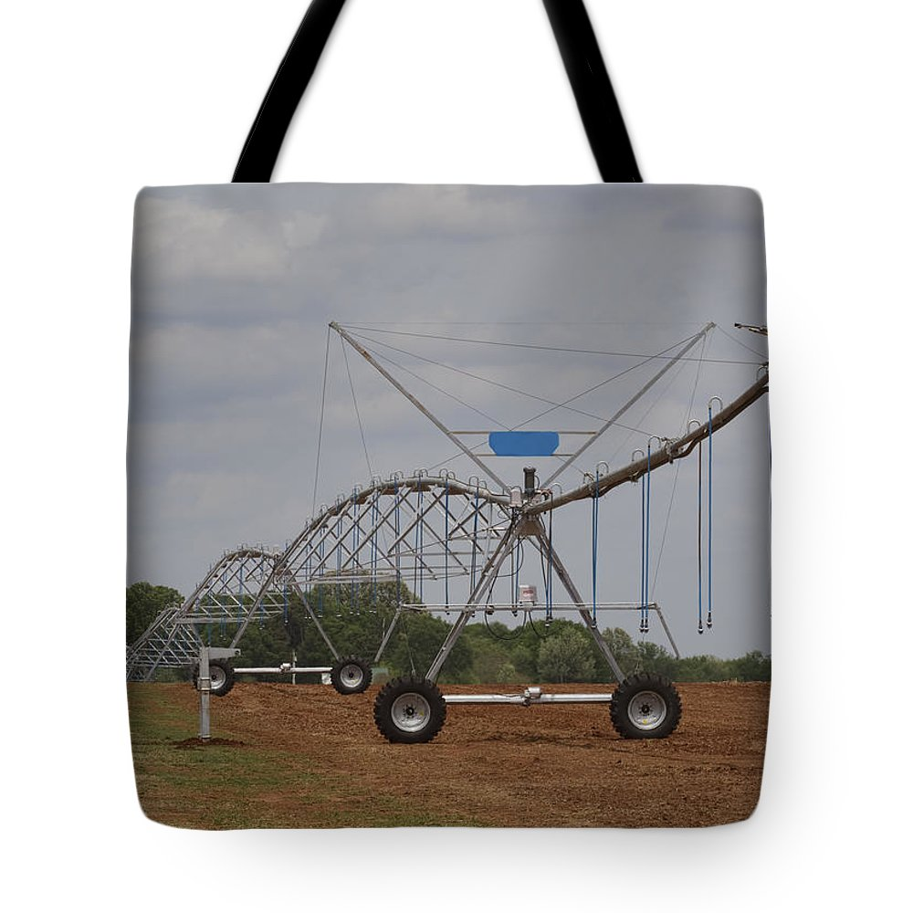 Irrigation Tote Bag featuring the photograph Limestone County Crop Irrigation by Kathy Clark