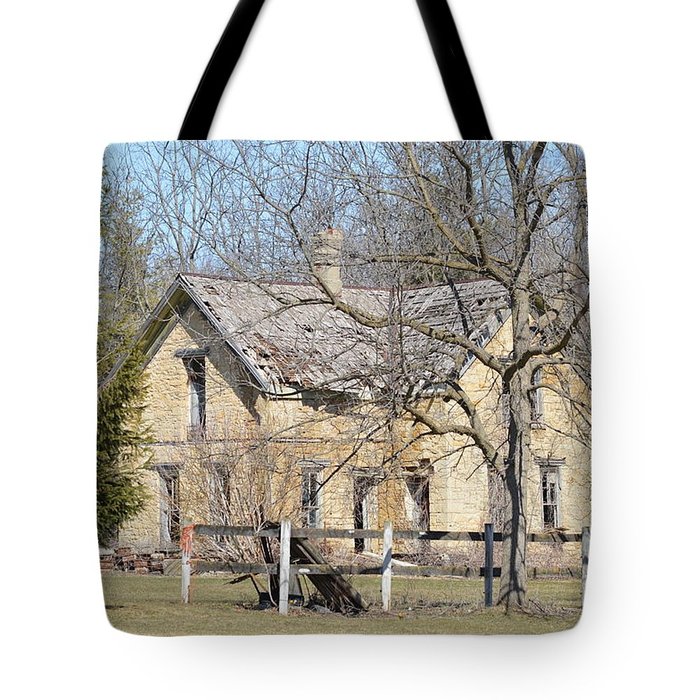 Limestone Tote Bag featuring the photograph Limestone Relic by Bonfire Photography