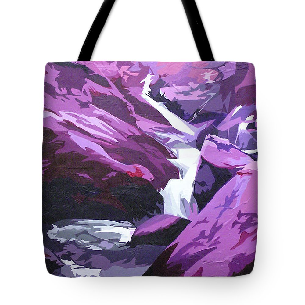 Creek Tote Bag featuring the painting Limpy Creek by Joshua Morton