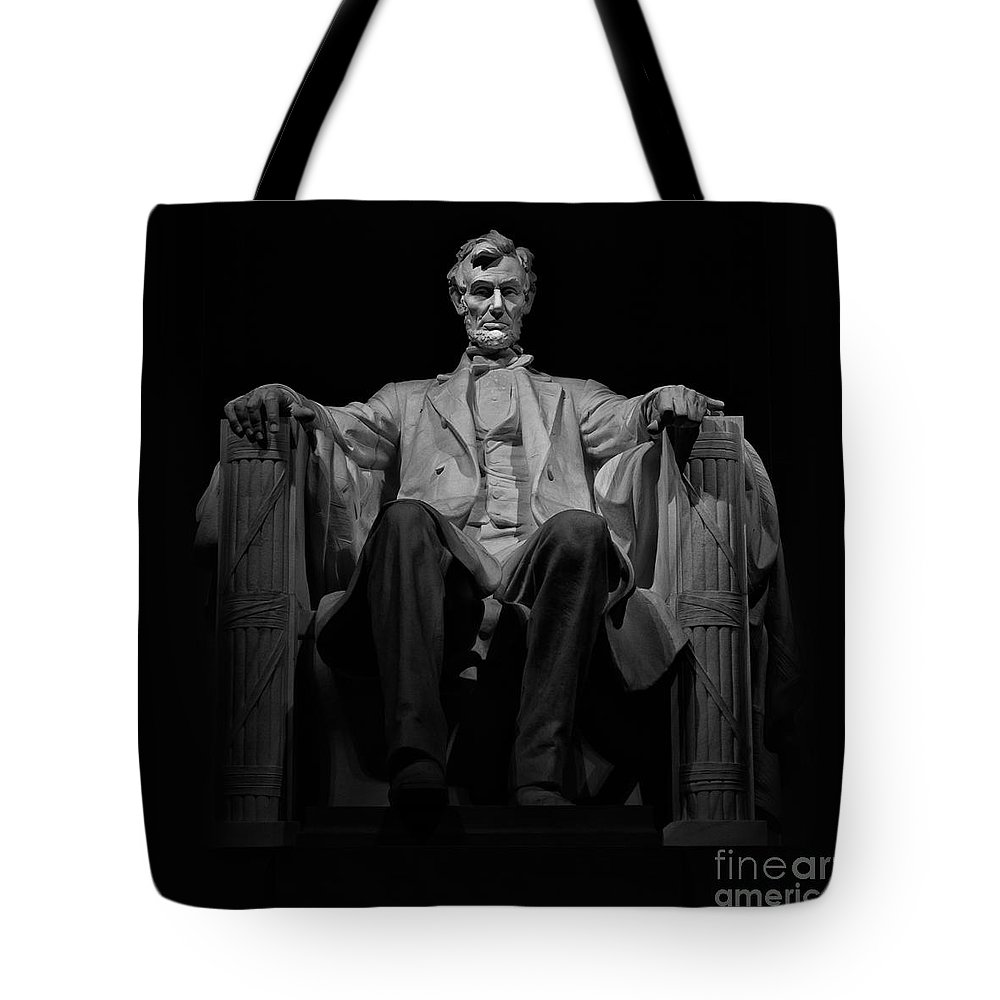 Lincoln Memorial Tote Bag featuring the photograph Lincoln In Solitude by Jerry Fornarotto
