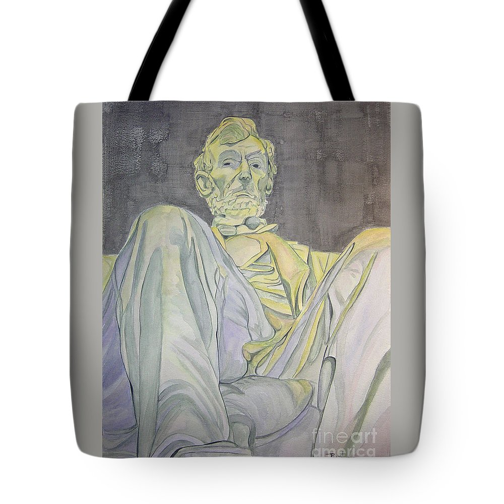 Presidents Tote Bag featuring the painting Lincoln by Regan J Smith