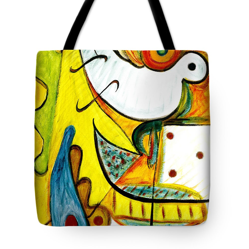 Abstract Art Tote Bag featuring the painting Linda Paloma by Stephen Lucas