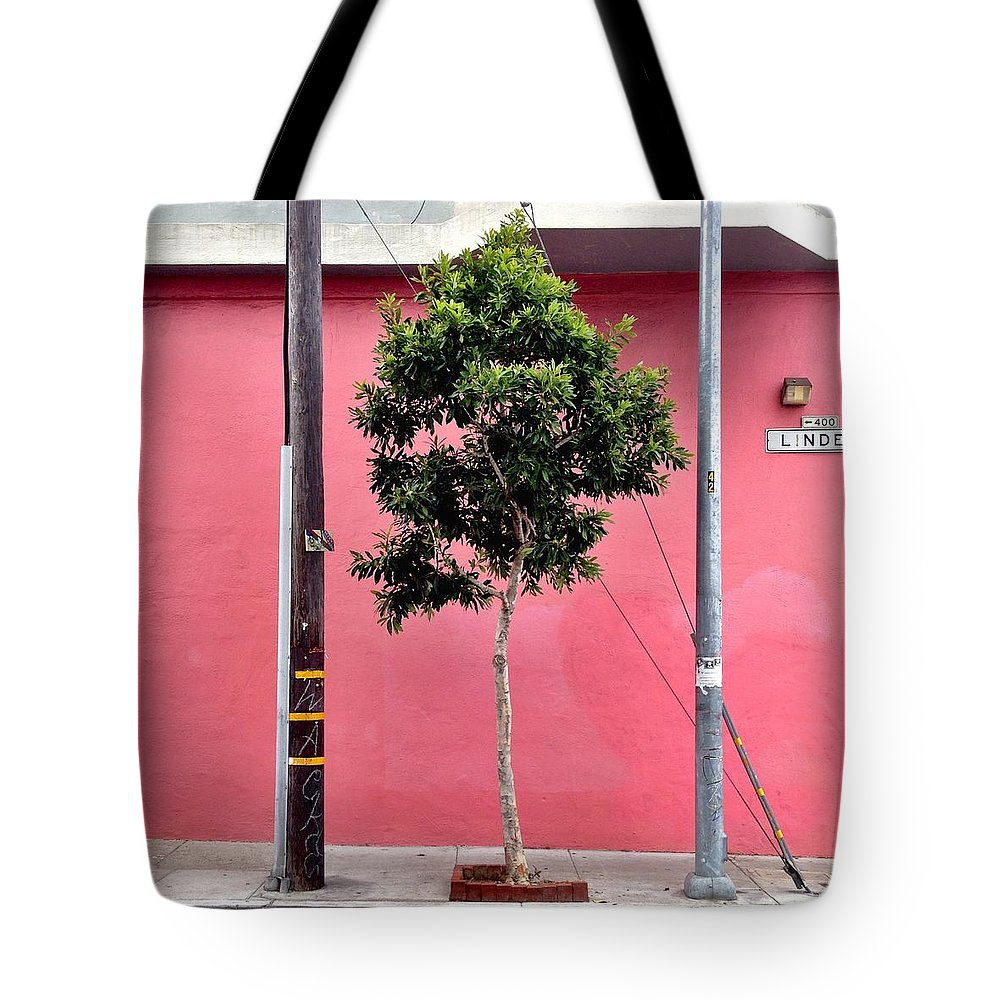 Pink Wall Tote Bag featuring the photograph Linden Street by Julie Gebhardt