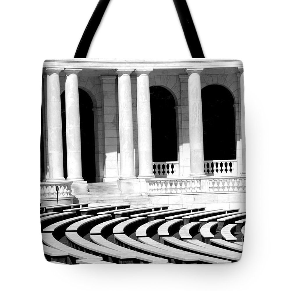 Arlington Tote Bag featuring the photograph Lines And Curves by Paul W Faust - Impressions of Light
