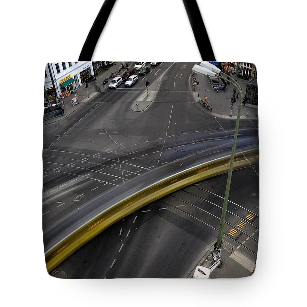 Street Tote Bag featuring the photograph Lines And Strokes by RicardMN Photography