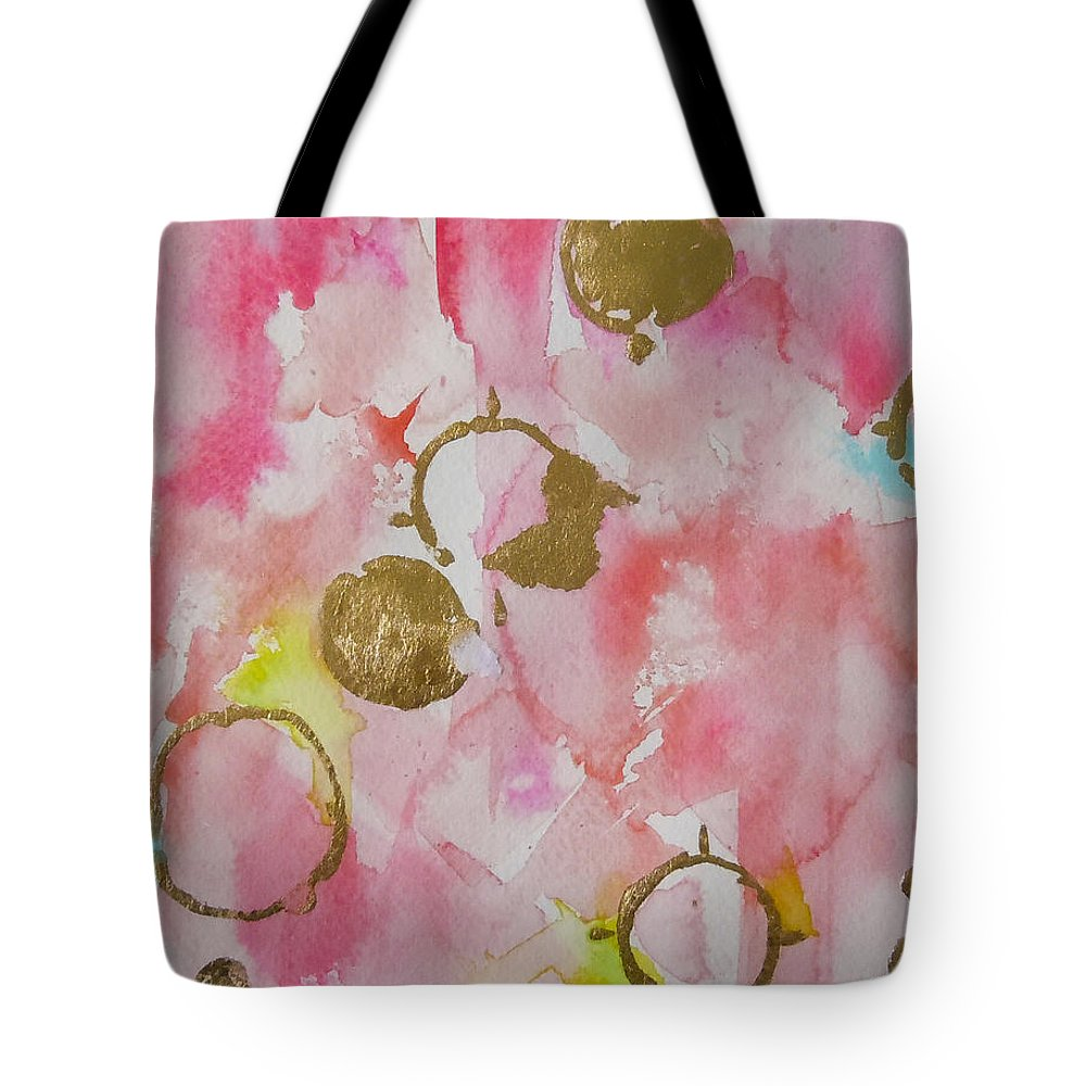 Pink Watercolor Tote Bag featuring the painting Linx No.2 by Roleen Senic