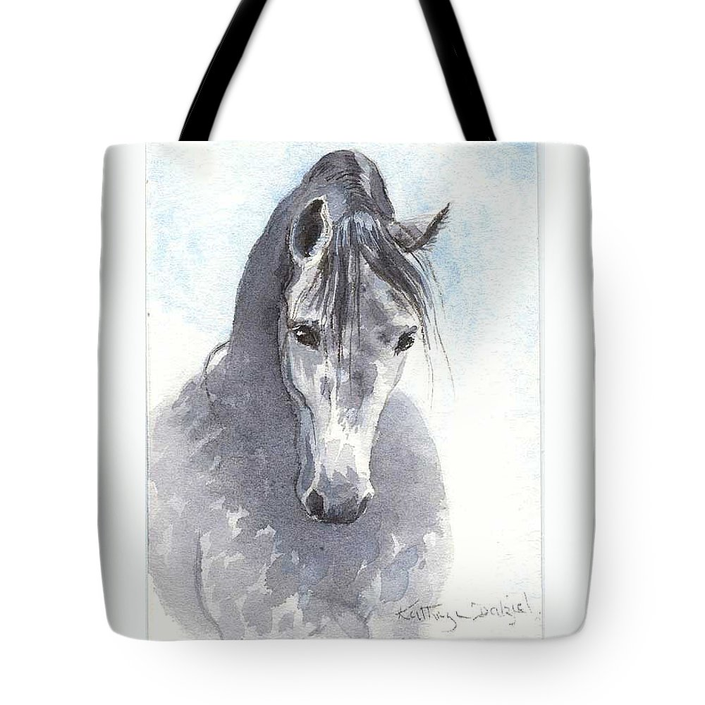 Dapple Tote Bag featuring the painting Lipizzaner by Kathryn Dalziel