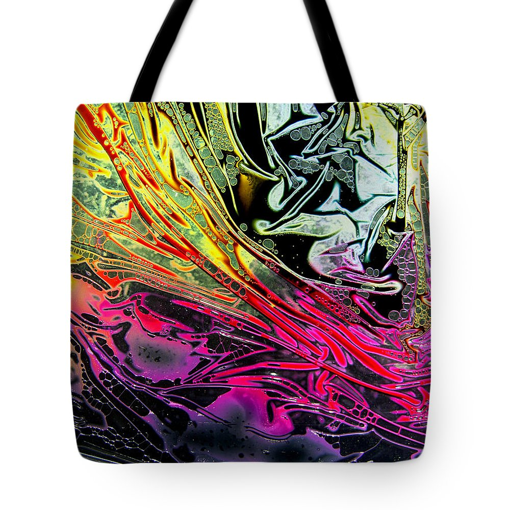 Surrealism Tote Bag featuring the digital art Liquid Decalcomaniac Desires 1 by Otto Rapp