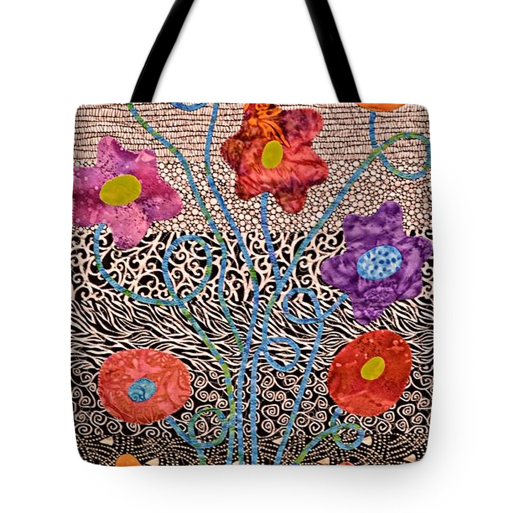 Idaho Falls Tote Bag featuring the photograph Liquid Flowers by Image Takers Photography LLC - Carol Haddon