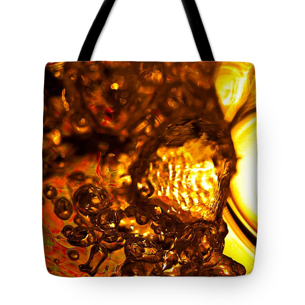 Abstract Tote Bag featuring the photograph Liquid Fuel by Anthony Sacco