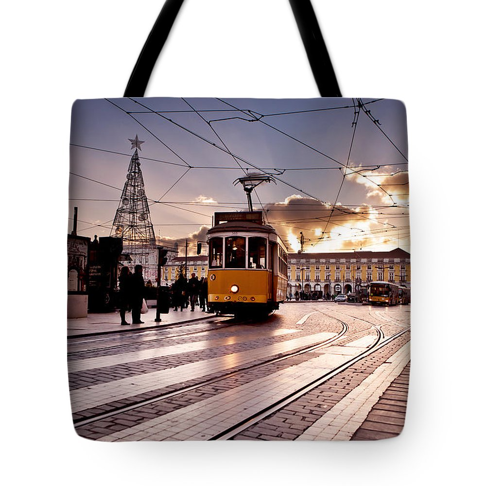 Lisbon Tote Bag featuring the photograph Lisbon Light by Jorge Maia