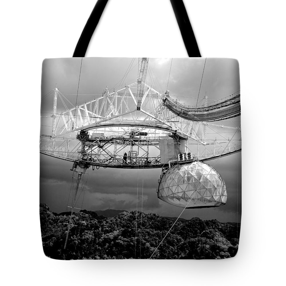Arecibo Telescope Tote Bag featuring the photograph Listening For Life by Eric Tressler