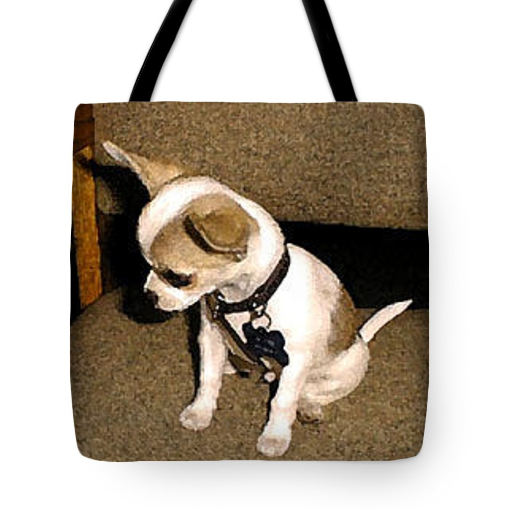 Chihuahua Tote Bag featuring the photograph Listening by Leah Delano