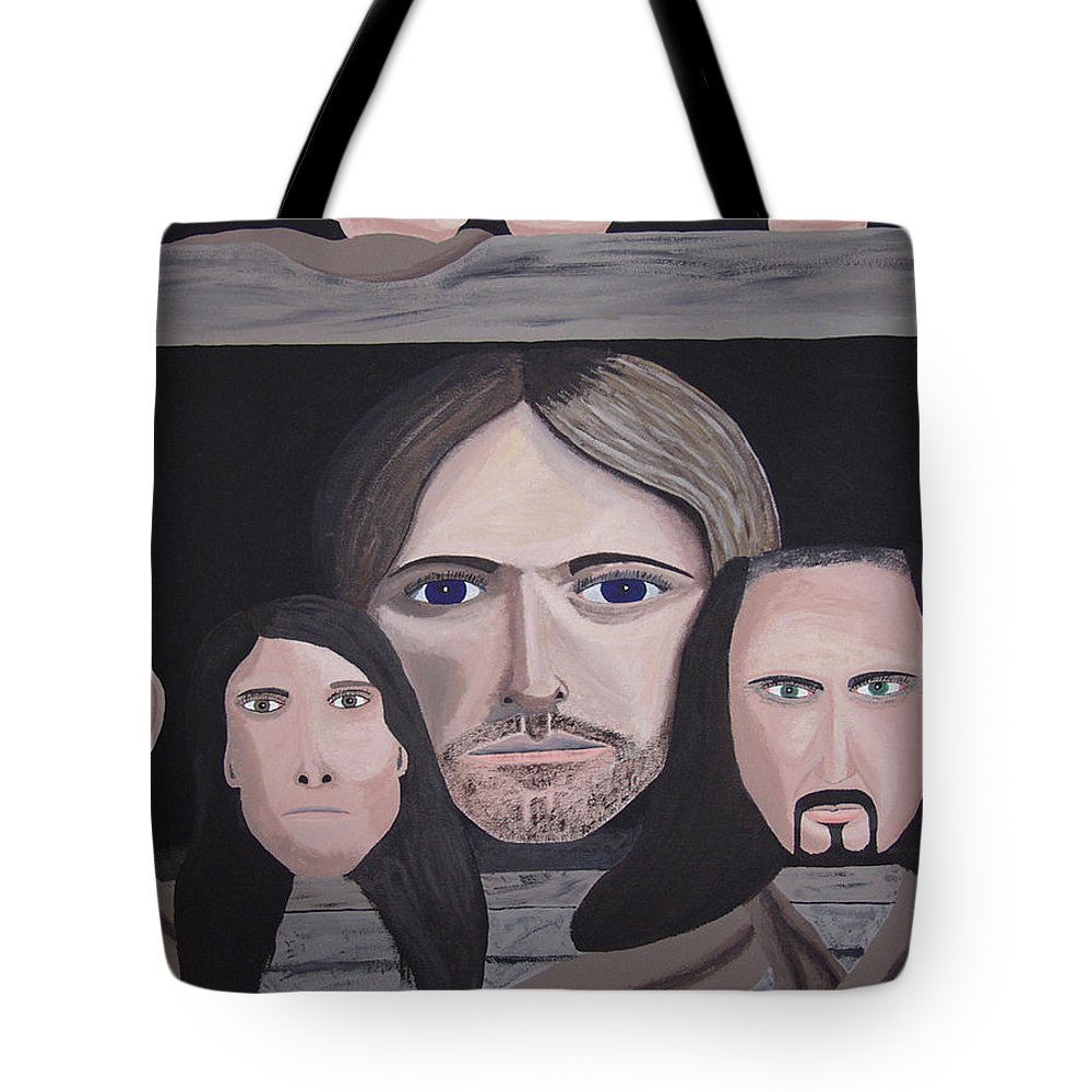 Original Tote Bag featuring the painting Lithium by Dean Stephens