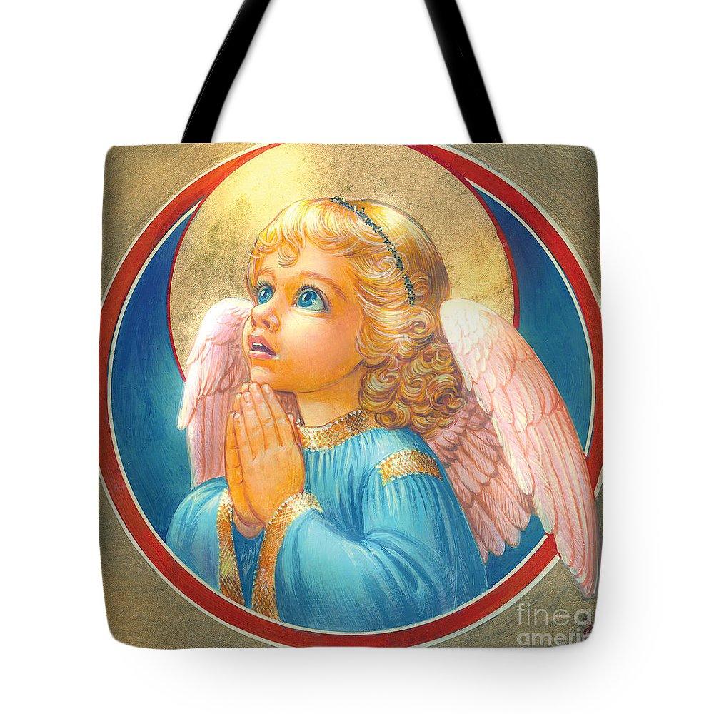 Zorina Baldescu Tote Bag featuring the digital art Little Angel by Zorina Baldescu