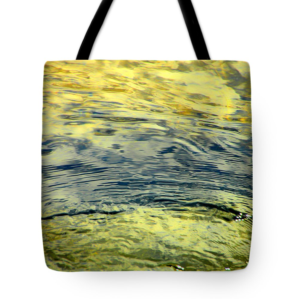 Water Tote Bag featuring the photograph Little Bit Of Sunshine by Donna Blackhall