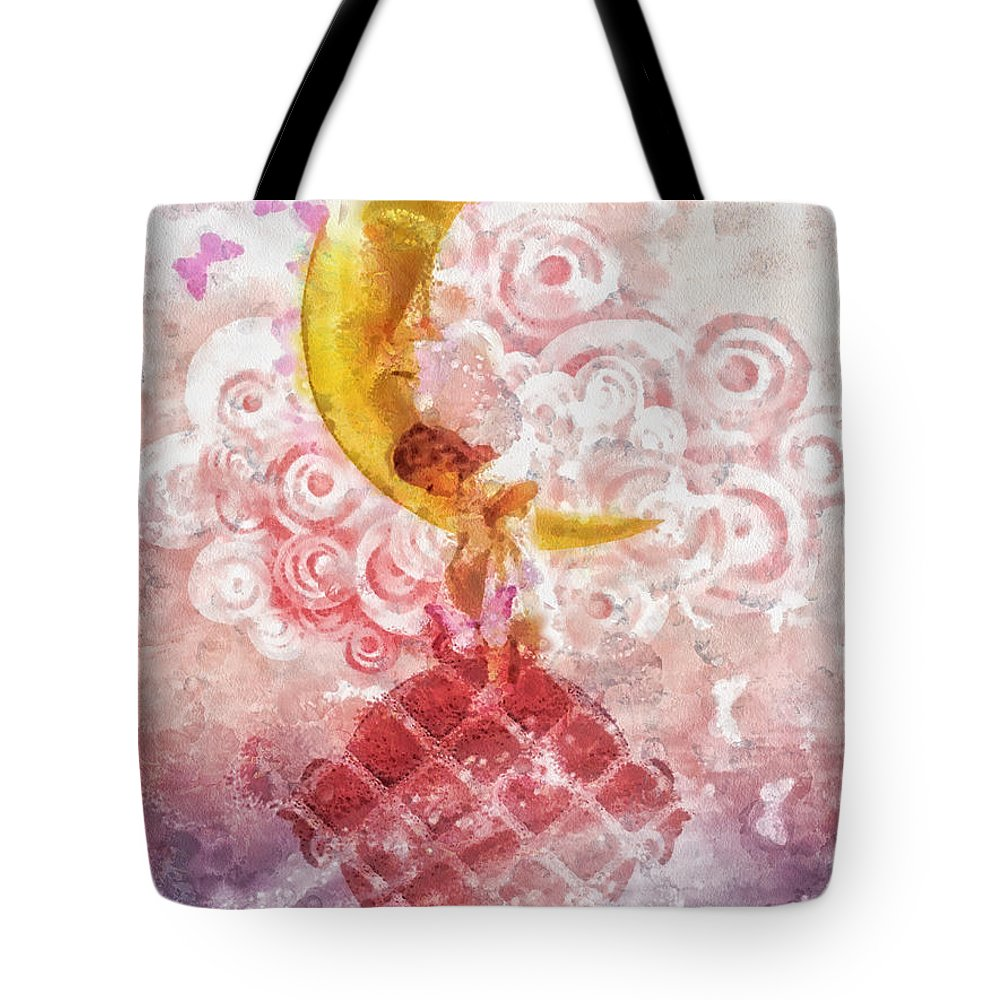 Little Princess Tote Bag featuring the painting Little Princess by Mo T