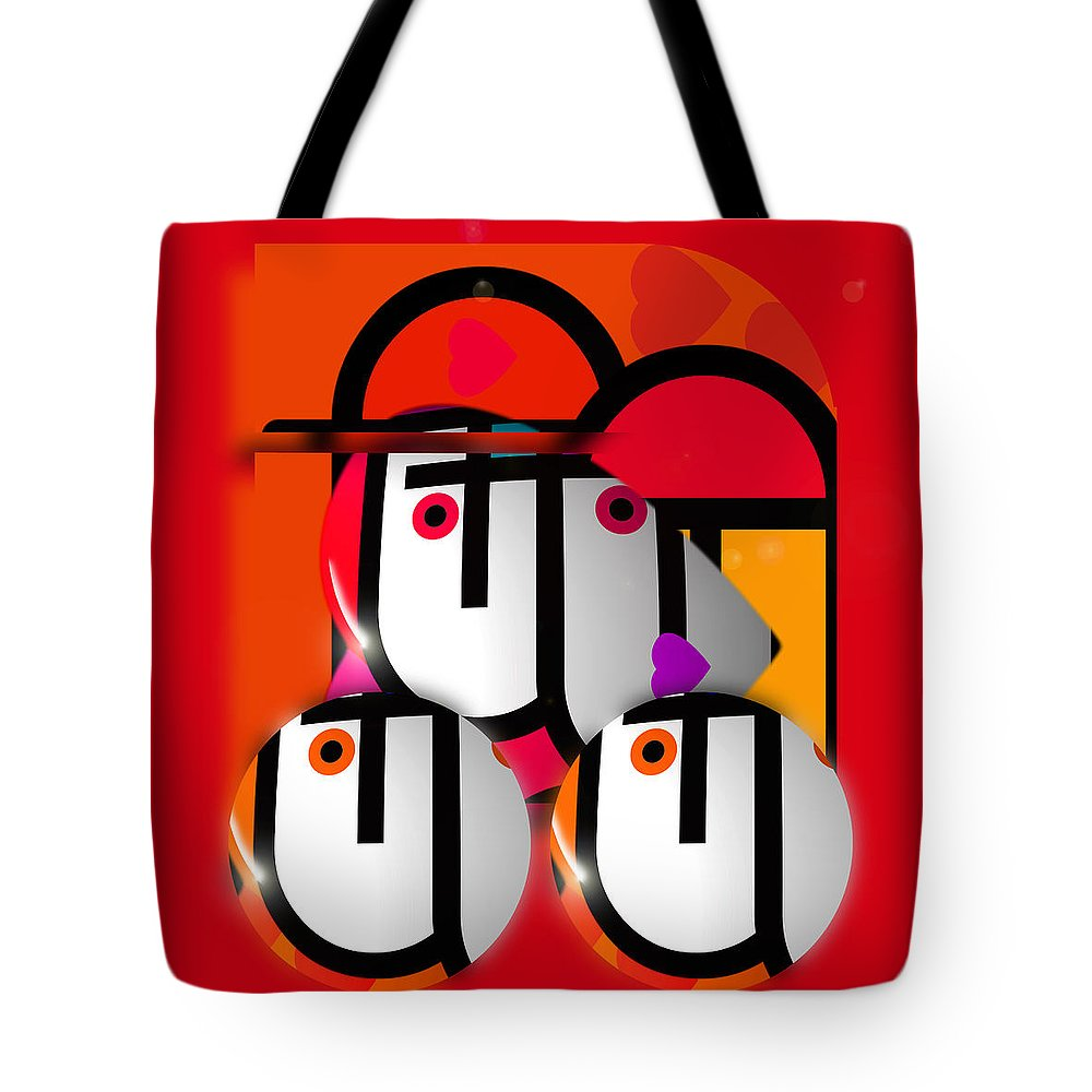 Lorry Tote Bag featuring the painting Little Red Truck by Charles Stuart