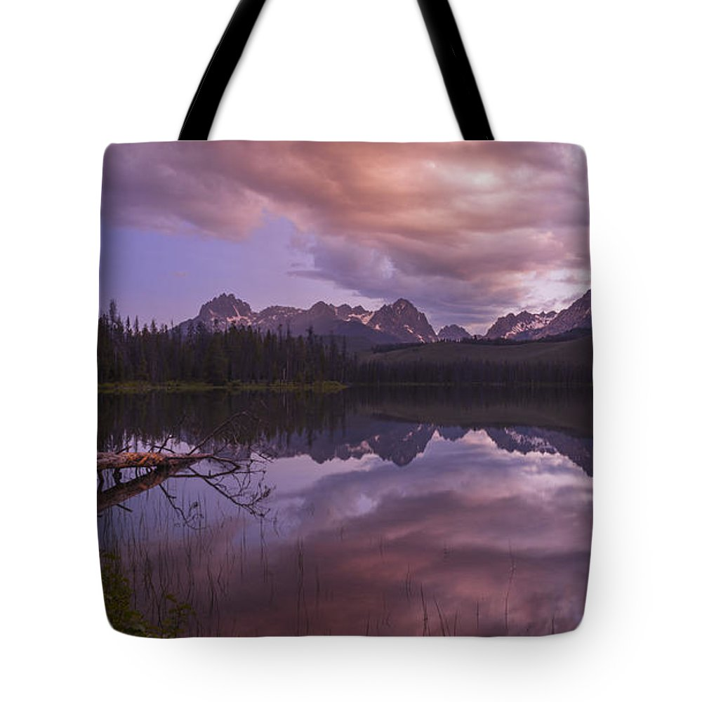 Little Redfish Lake Tote Bag featuring the photograph Little Redfish Lake Sunset Stanley Idaho by Vishwanath Bhat