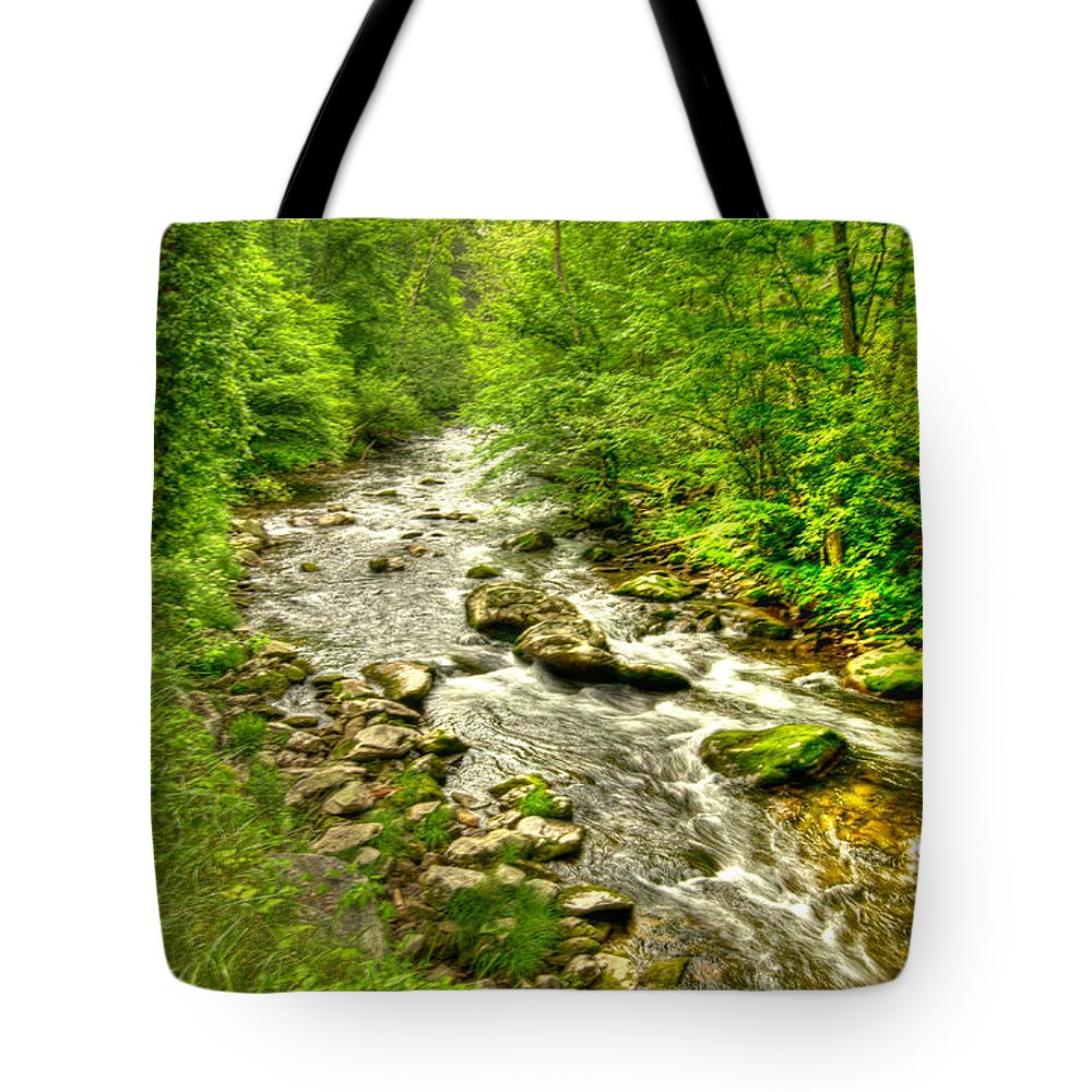 River Tote Bag featuring the photograph Little River - Smoky Mountains by Bob and Nancy Kendrick