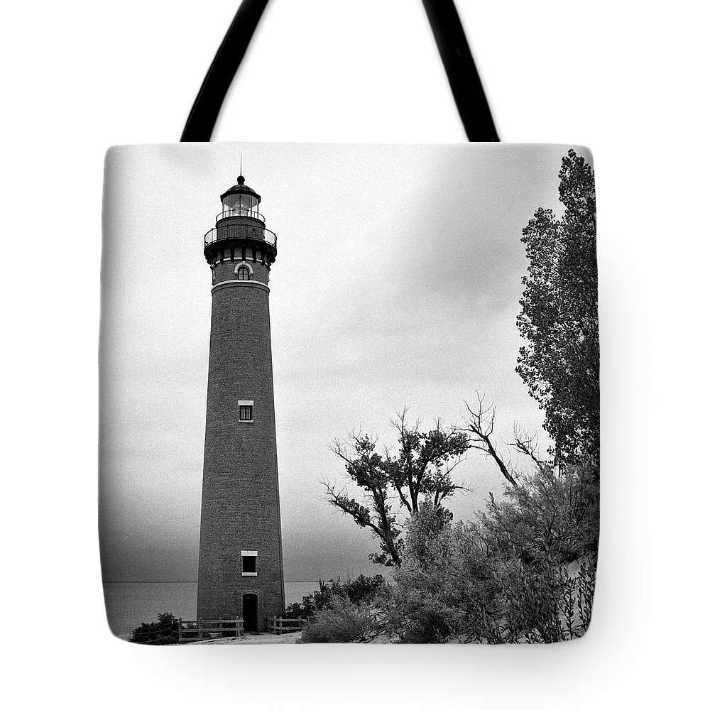 Jeff Tote Bag featuring the photograph Little Sable Point Lighthouse IIi by Jeff Burton