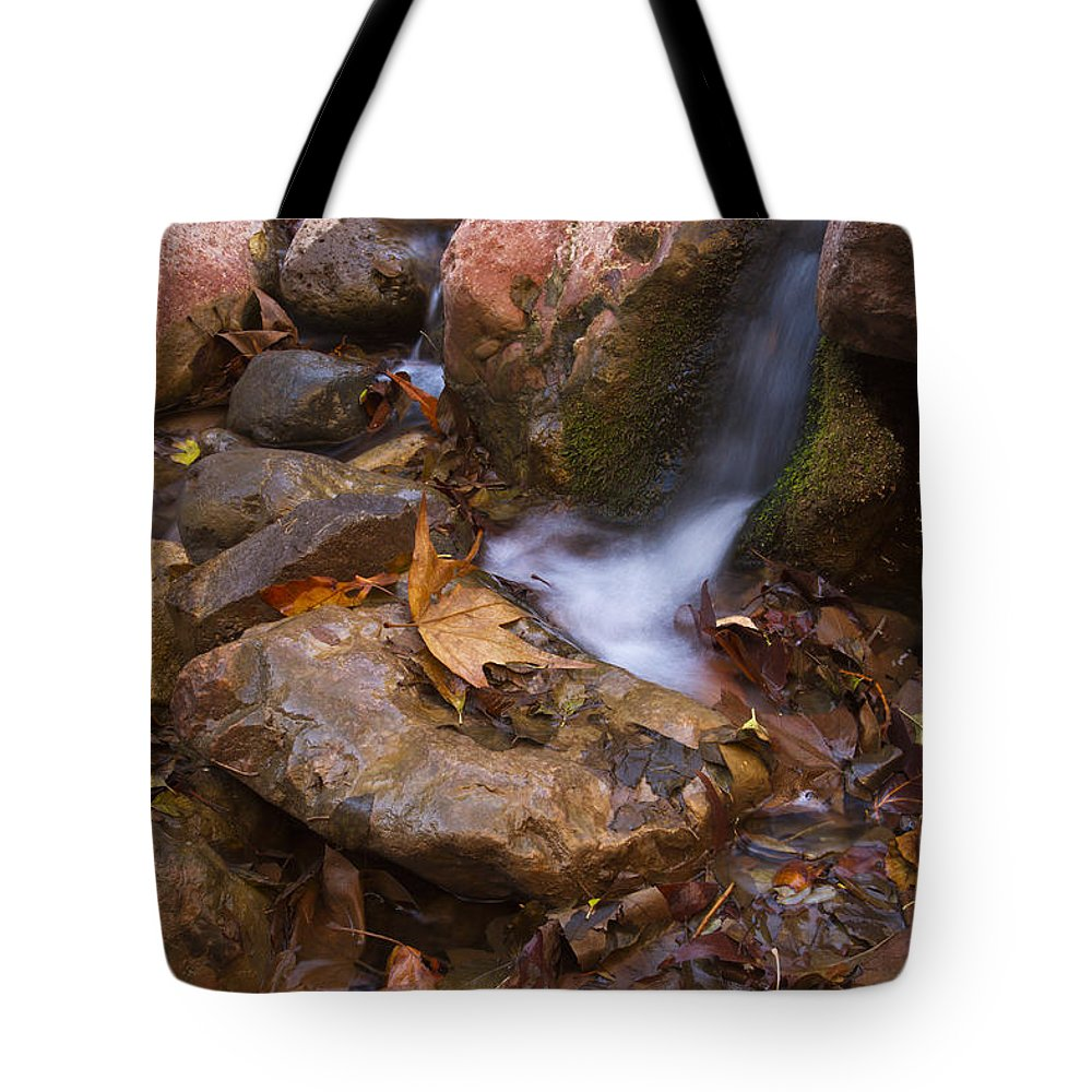 Arizona Tote Bag featuring the photograph Little Stream by Bryan Keil