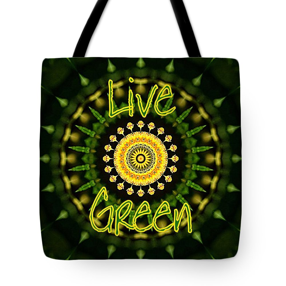 Live Green Tote Bag featuring the photograph Live Green 1 by Sheri McLeroy
