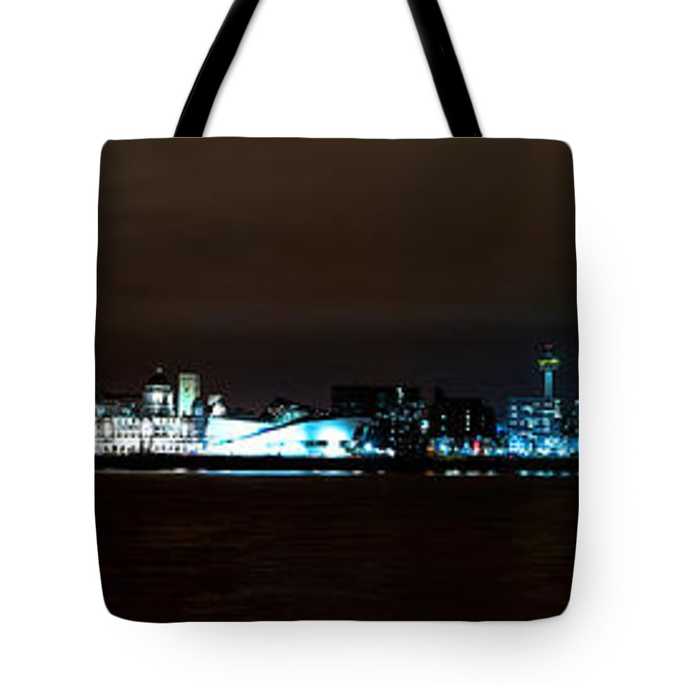 River Tote Bag featuring the photograph Liverpool Waterfront by Spikey Mouse Photography
