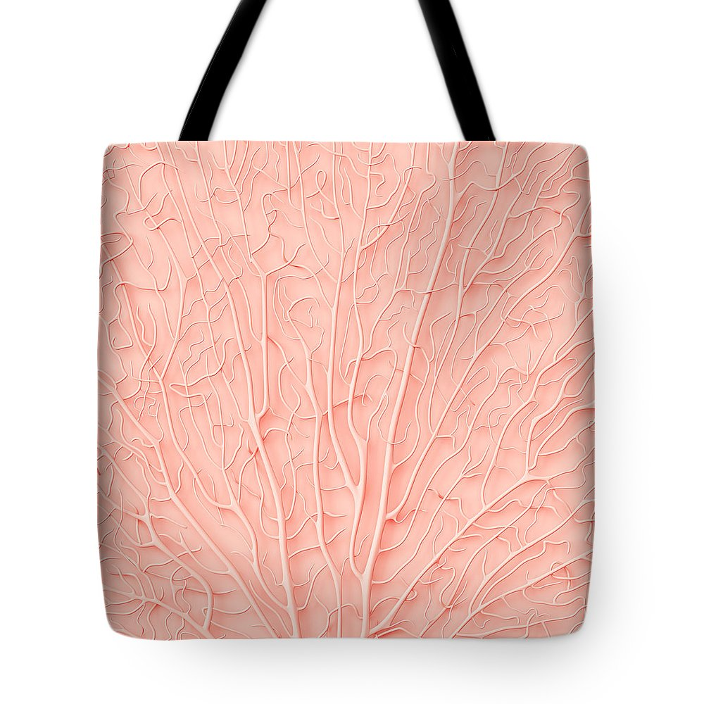 Empty Tote Bag featuring the photograph Living Coral Color Of The Year 2019 by Artjafara