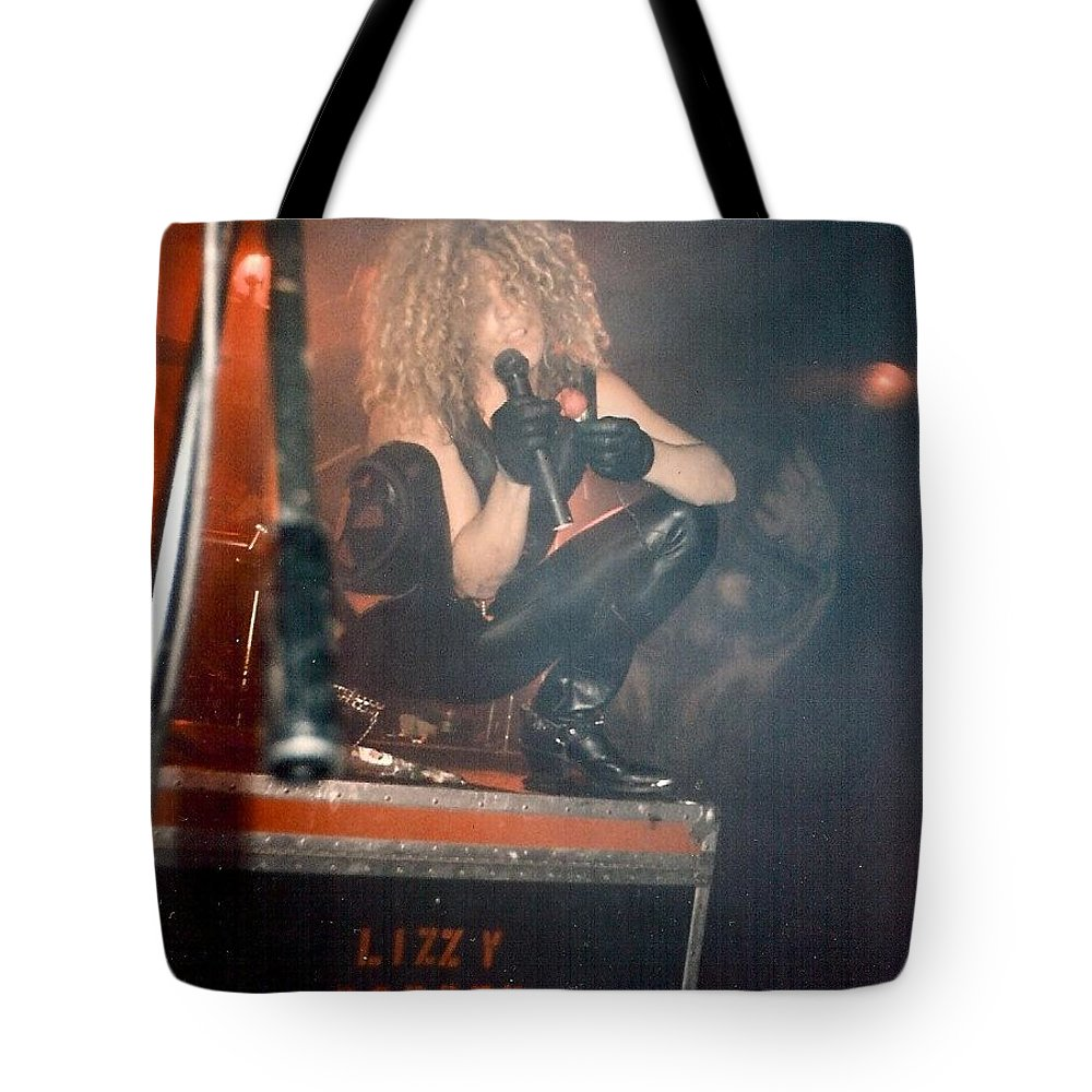 Lizzy Borden Tote Bag featuring the photograph Lizzy Borden by Sheryl Chapman Photography