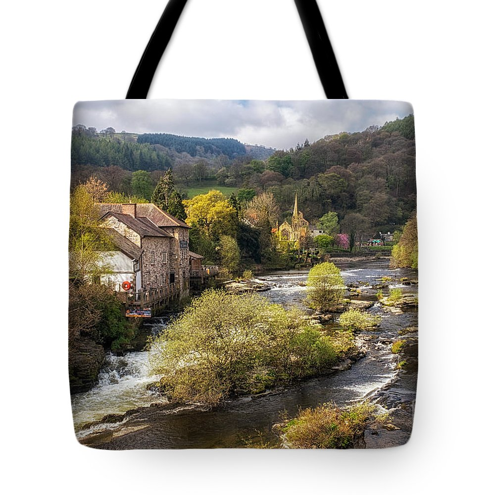 Llangollen Tote Bag featuring the photograph Llangollen And The River Dee by Ann Garrett