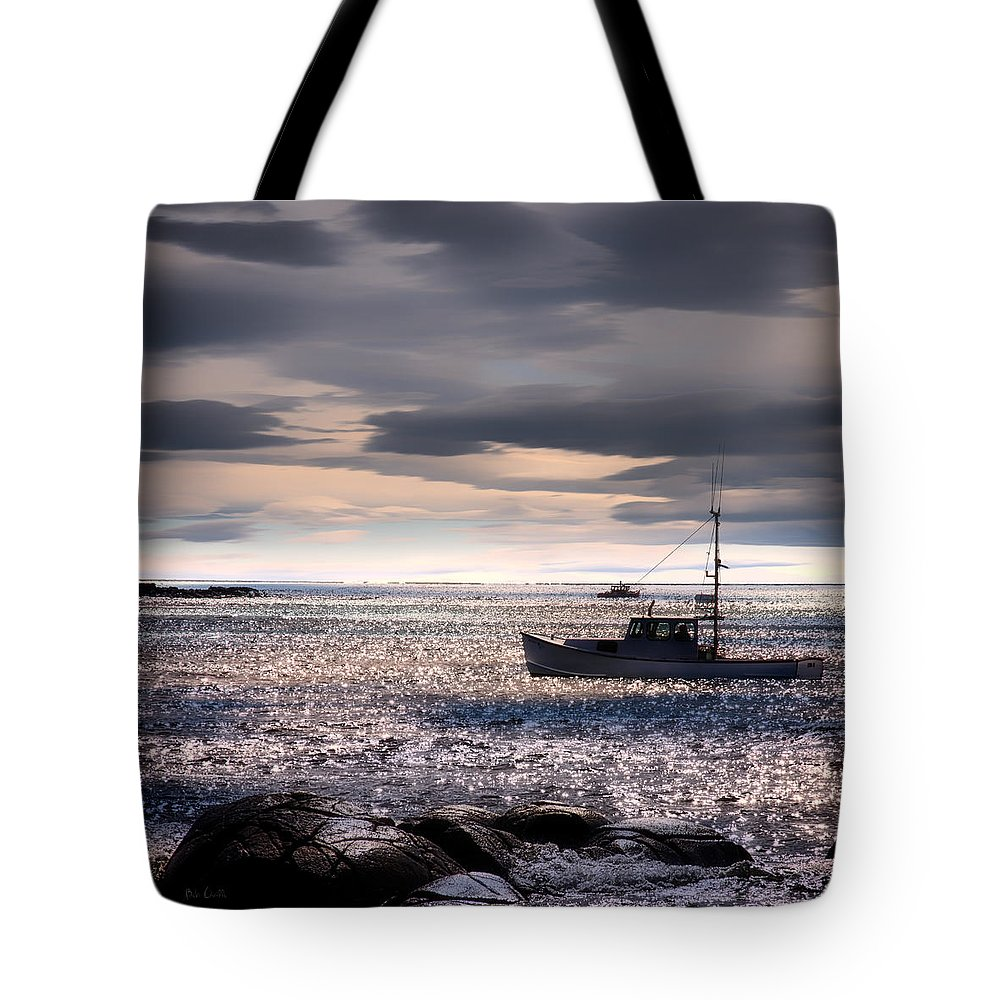 Seascape Tote Bag featuring the photograph Lobster Boat by Bob Orsillo