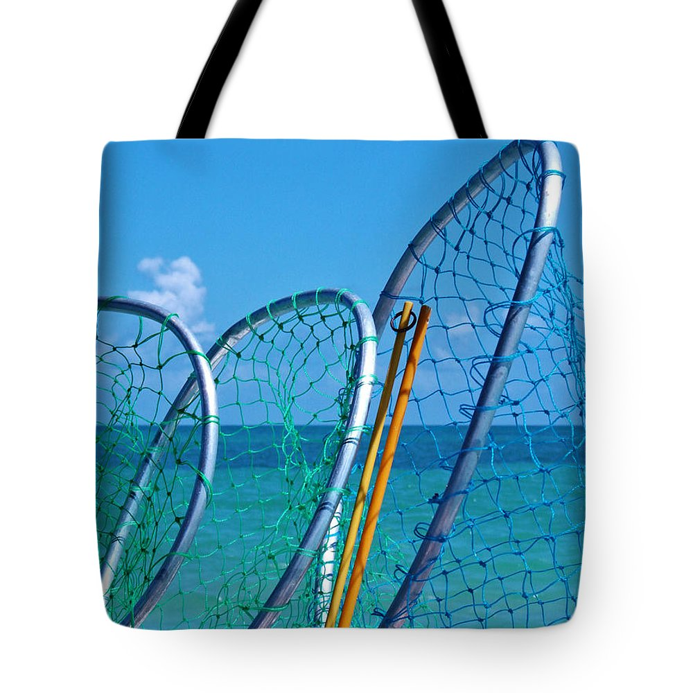 Florida Keys Lobster Catching Tools Tote Bag featuring the photograph Florida Lobster Diving Tools by Ginger Wakem