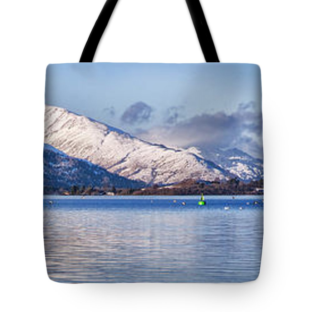 Balloch Tote Bag featuring the photograph Loch Lomond Panorama by Antony McAulay