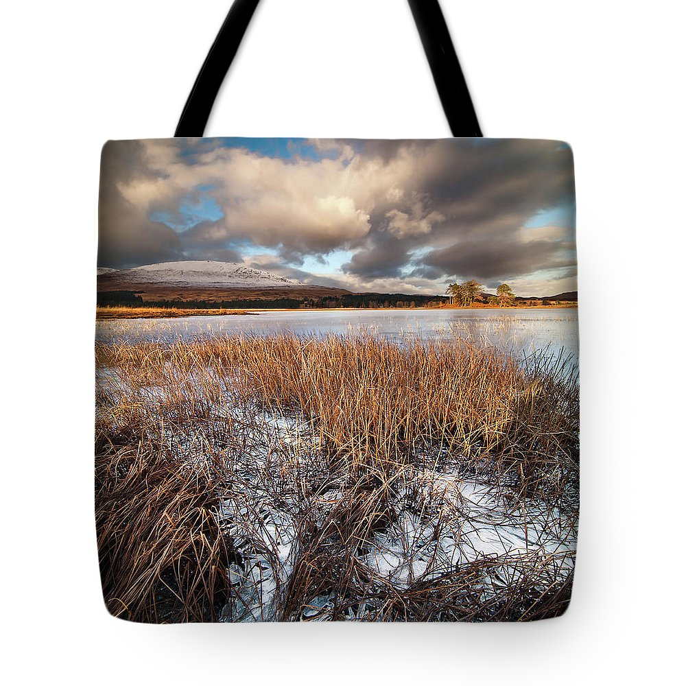 Tranquility Tote Bag featuring the photograph Loch Tulla by Image By Peter Ribbeck