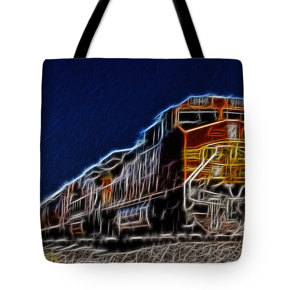 Bnsf Tote Bag featuring the photograph Loco Power by Albert Seger
