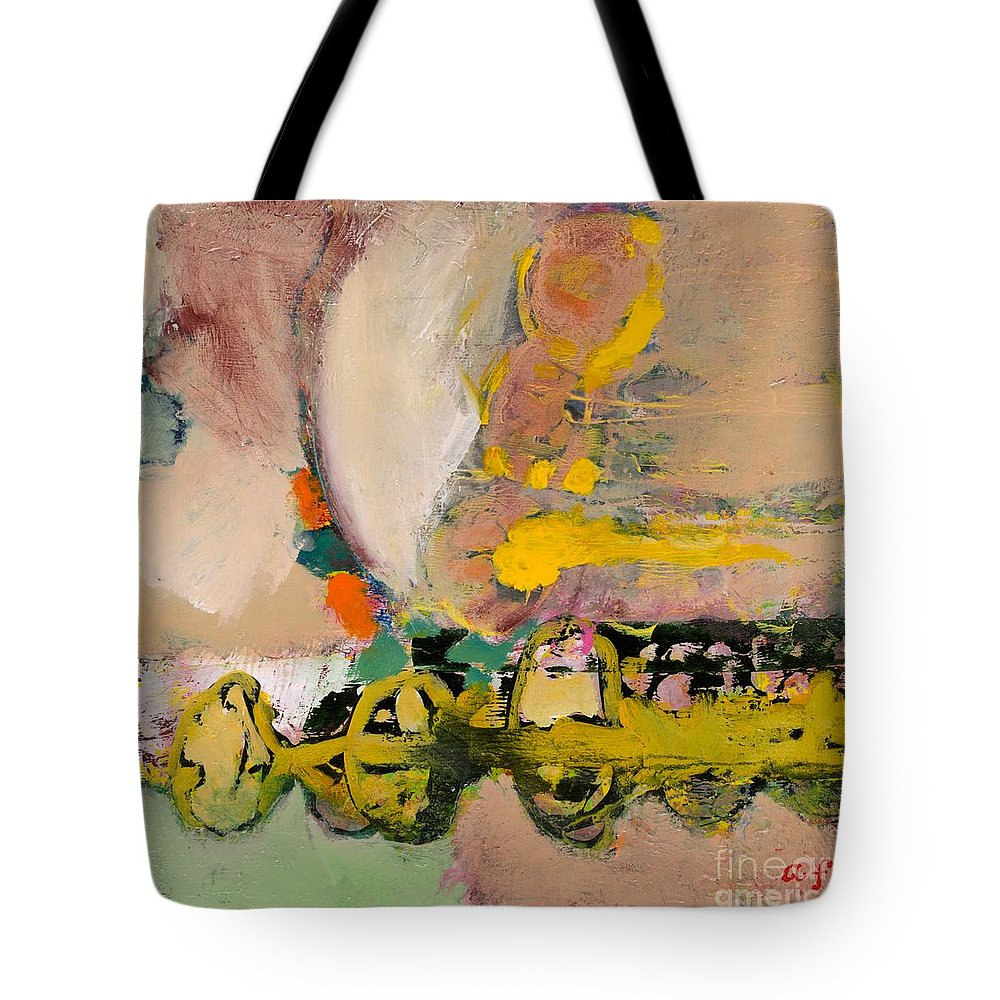 Landscape Tote Bag featuring the painting Locomotion by Allan P Friedlander