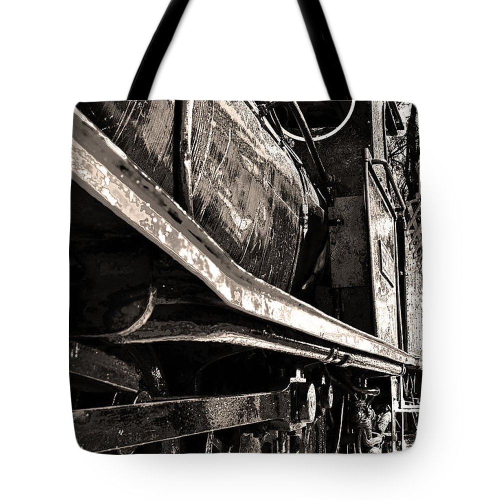 Old Tote Bag featuring the digital art Locomotive by Phill Petrovic
