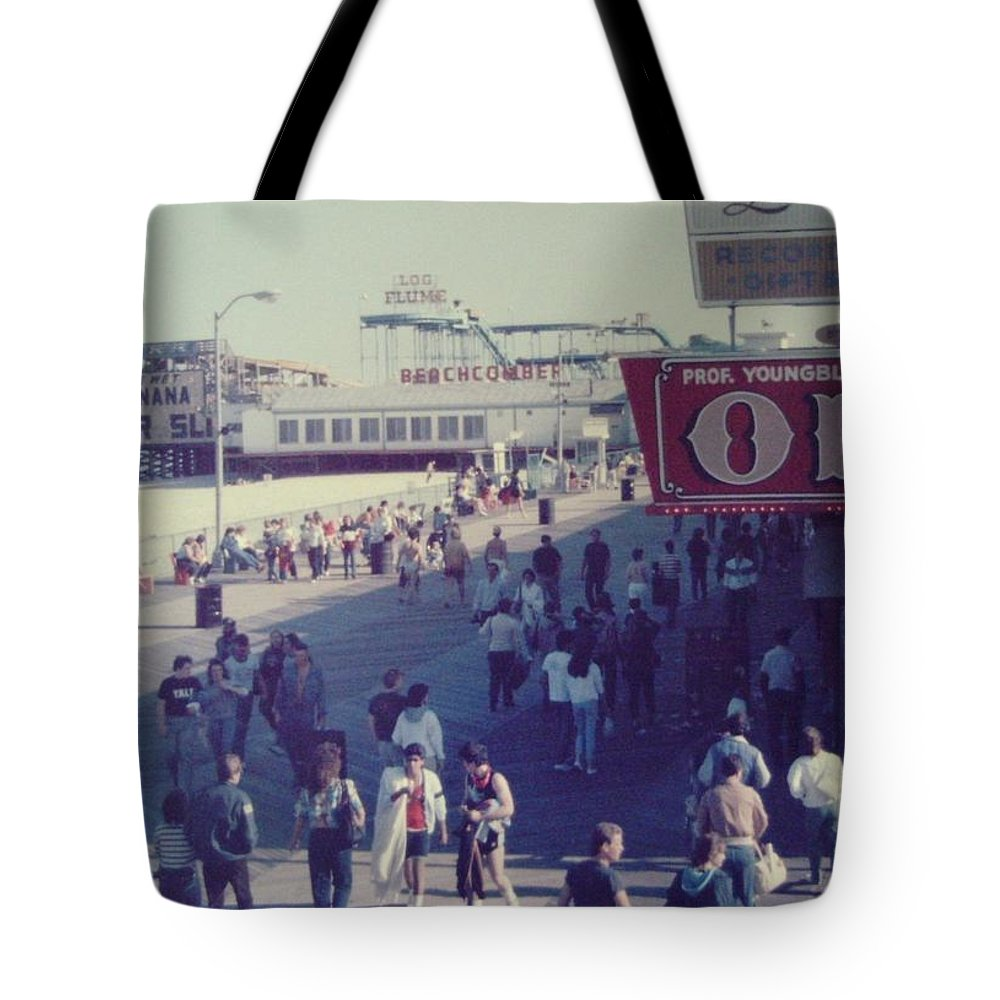 Funtown Pier Tote Bag featuring the photograph Log Flume Funtown Pier Seaside Heights Nj by Joann Renner