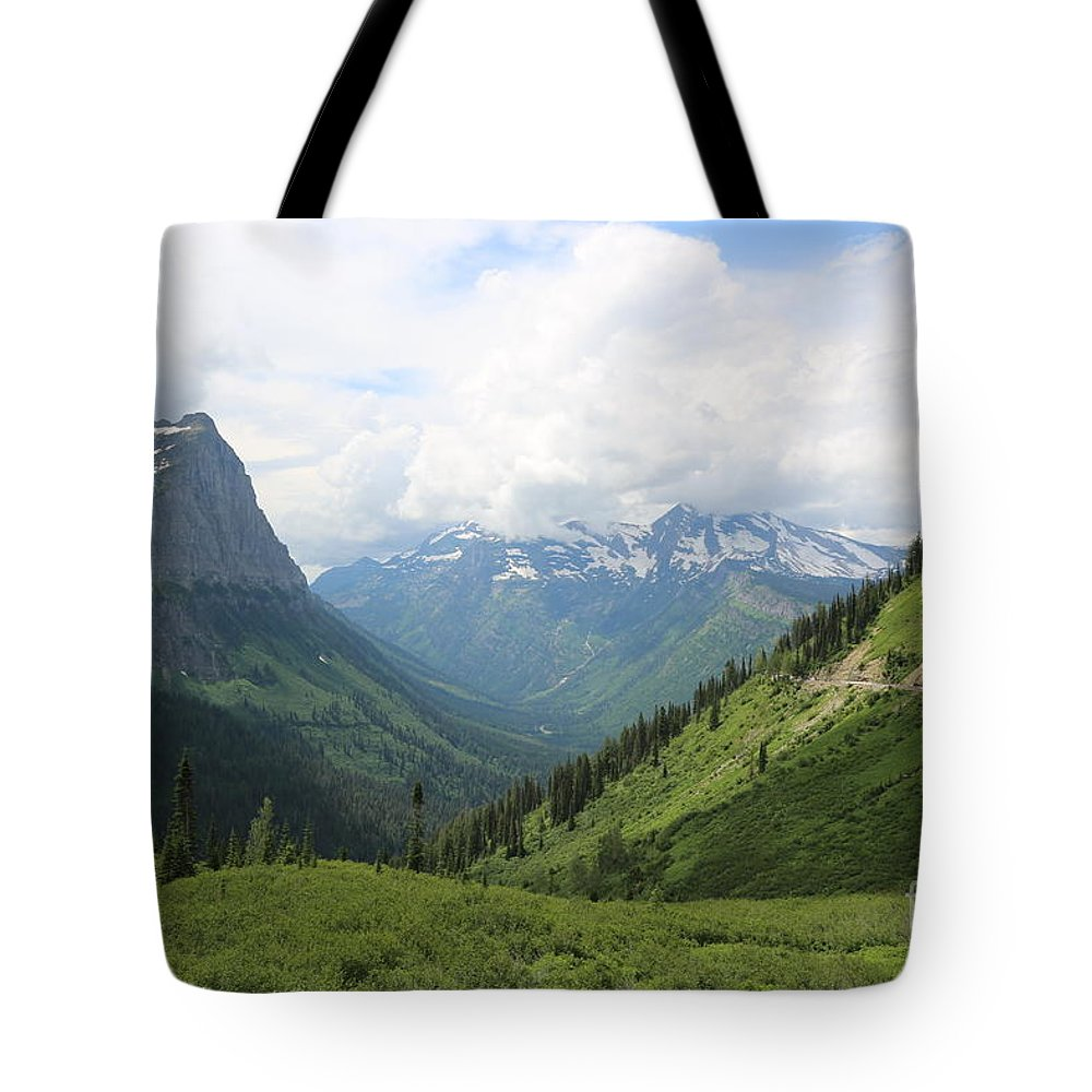 Logan's Pass Tote Bag featuring the photograph Logan Pass Before The Storm by Carol Groenen