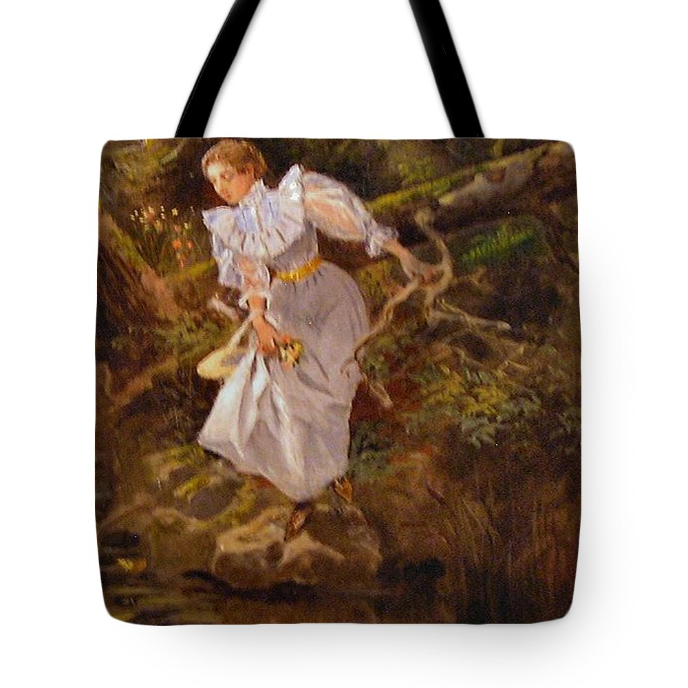 Charles Russell Tote Bag featuring the digital art Lolly by Charles Russell