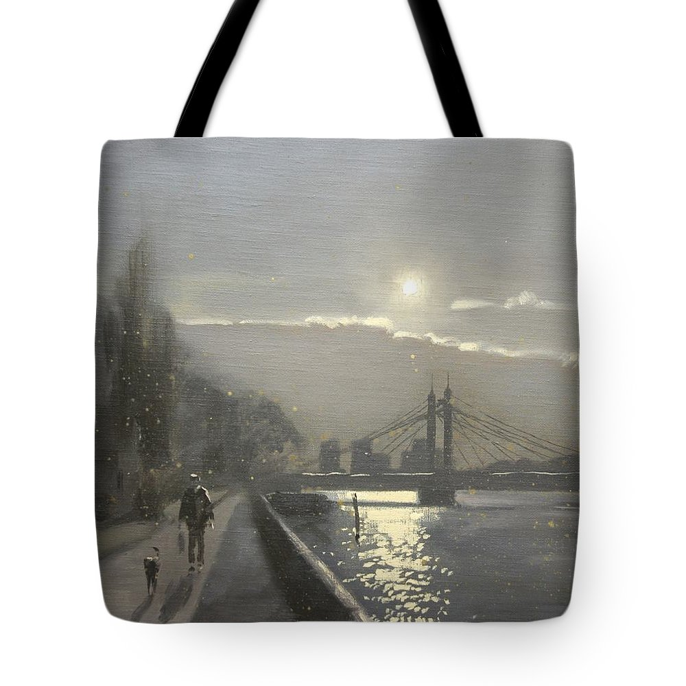 London Tote Bag featuring the painting London Bridge by Derek Williams