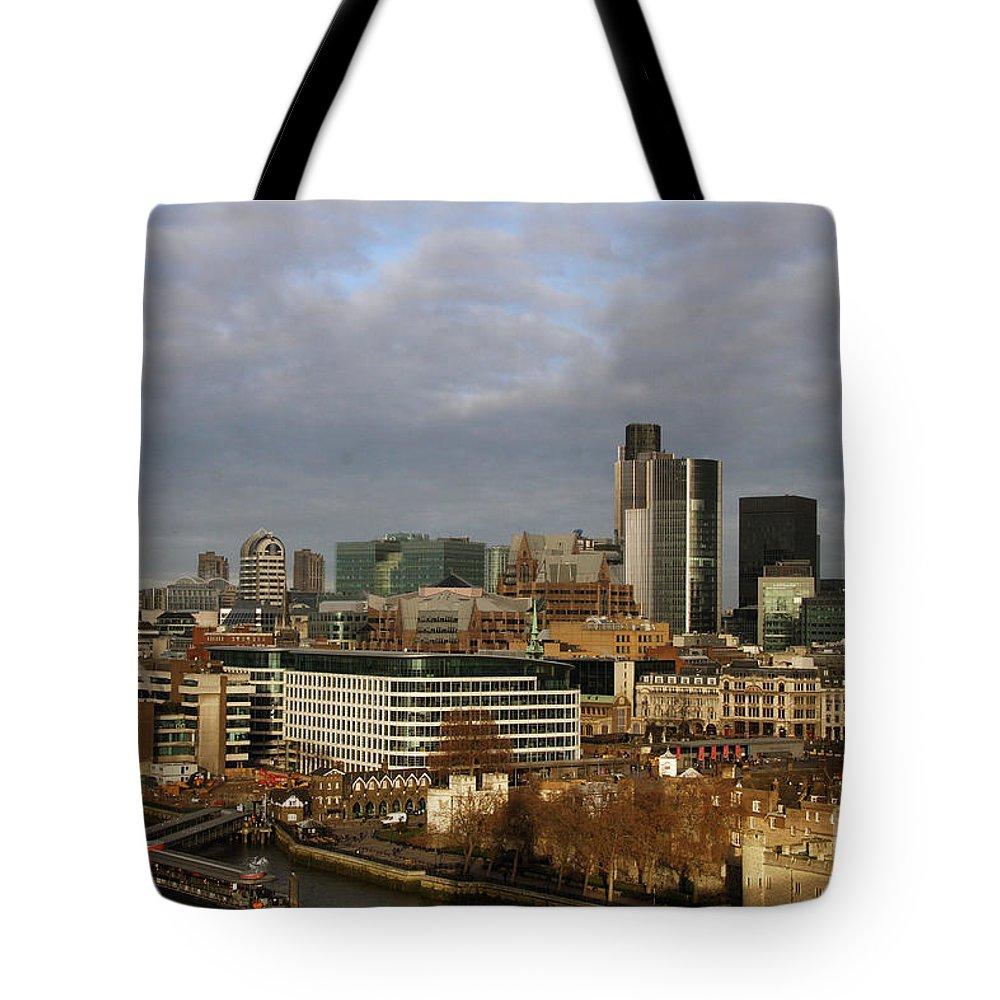 Skyline Tote Bag featuring the photograph London Egg by Christiane Schulze Art And Photography