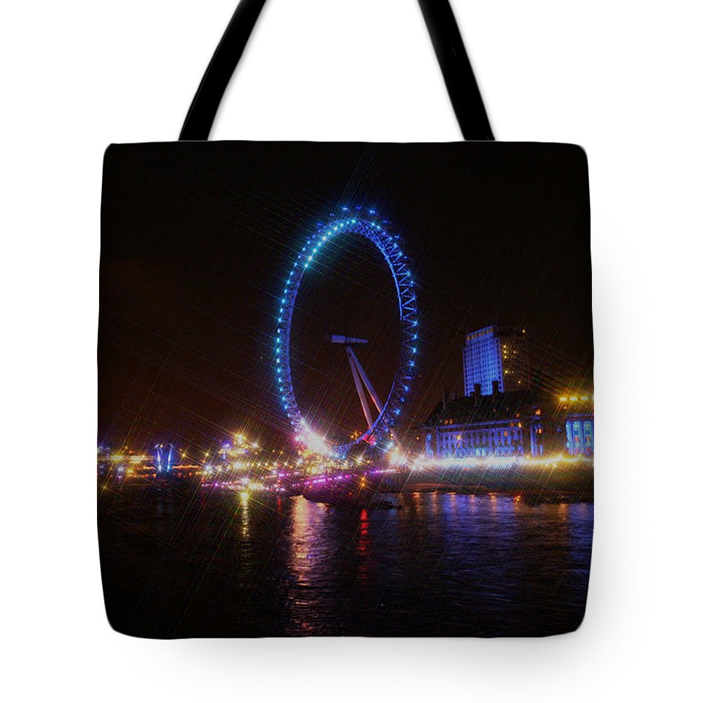 London Tote Bag featuring the photograph London Eye Art by Doc Braham