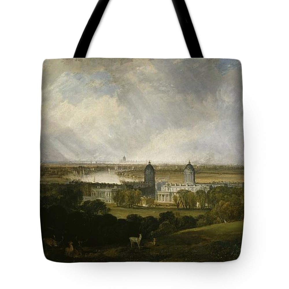 1809 Tote Bag featuring the painting London From Greenwich Park by JMW Turner