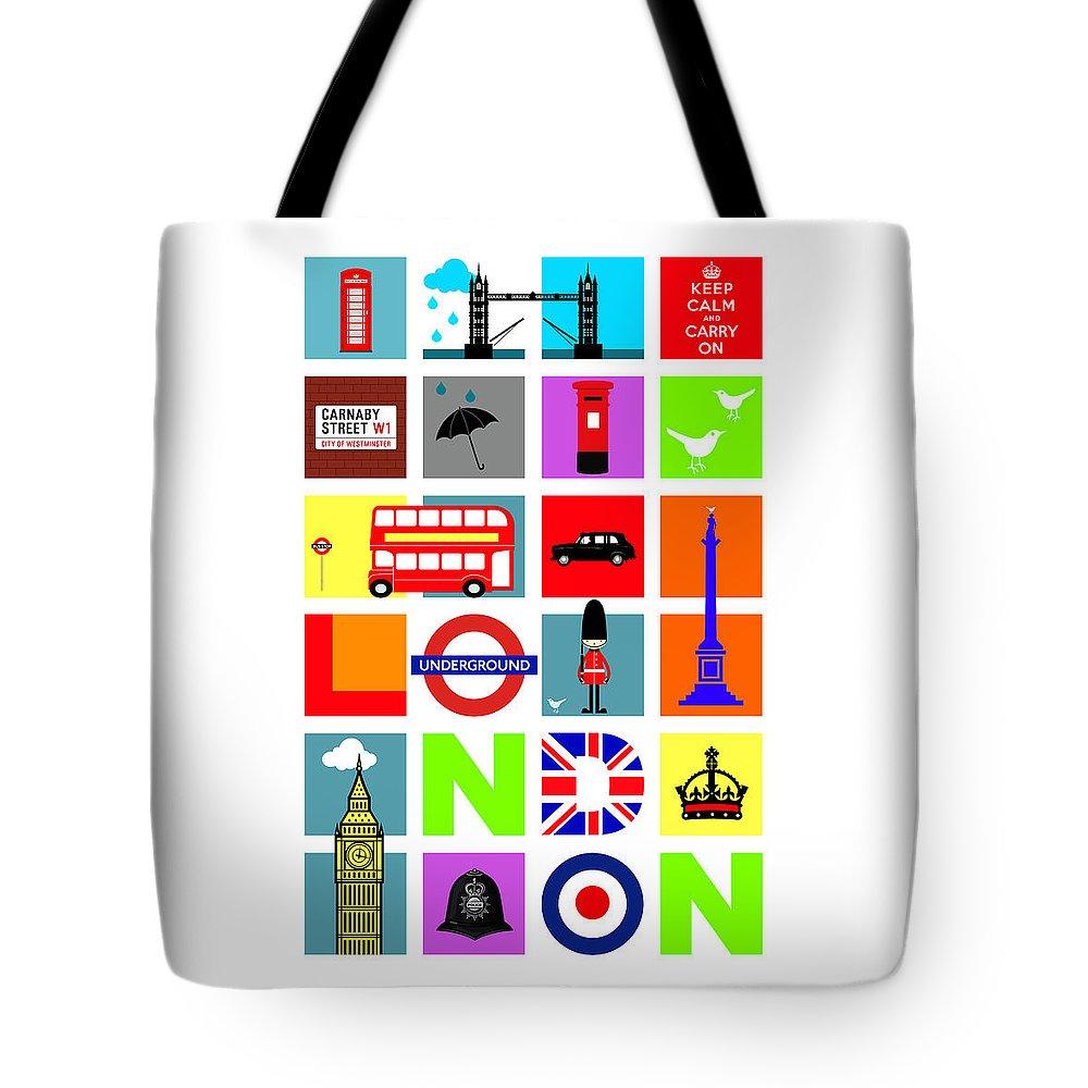 London Tube Tote Bags