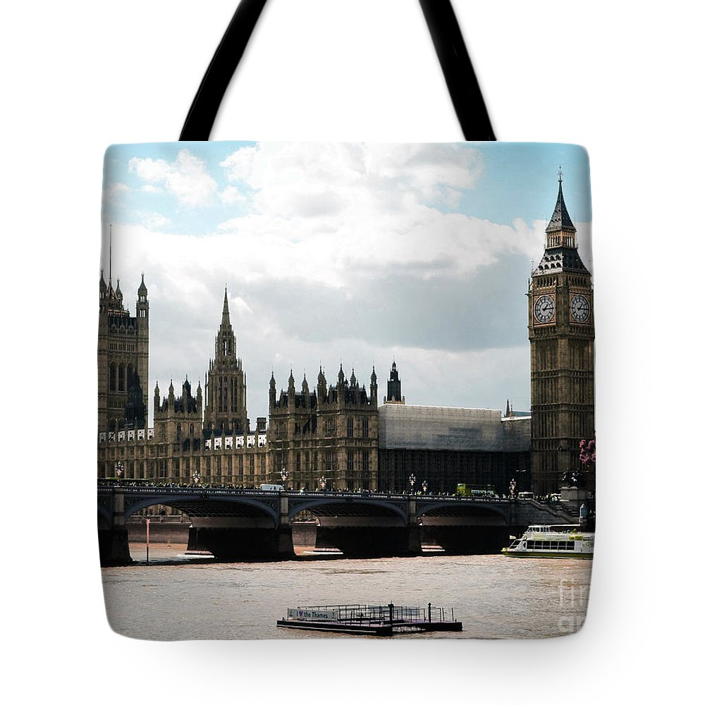 London Parliament Building Tote Bag featuring the digital art London Parliament Building by Celestial Images